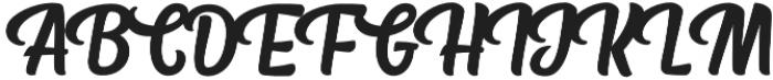 Fresh Press Caps otf (400) Font UPPERCASE