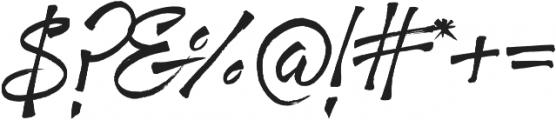 Fresh Script Regular otf (400) Font OTHER CHARS