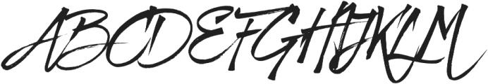 Fresh Script Regular otf (400) Font UPPERCASE
