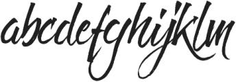 Fresh Script Regular otf (400) Font LOWERCASE