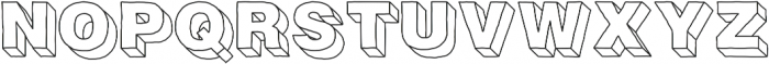 Fresh Volume Simple otf (400) Font UPPERCASE