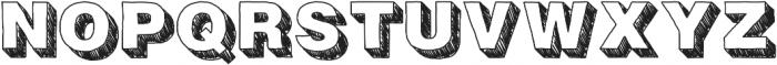 Fresh Volume Sketch otf (400) Font UPPERCASE