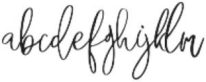 FreshBakery otf (400) Font LOWERCASE
