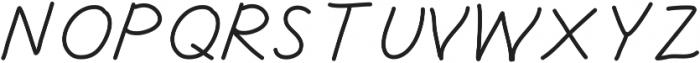 Freshitalic ttf (400) Font UPPERCASE