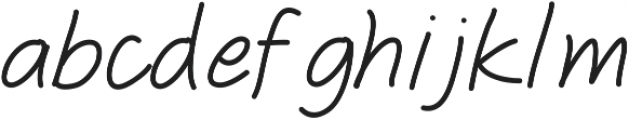 Freshitalic ttf (400) Font LOWERCASE