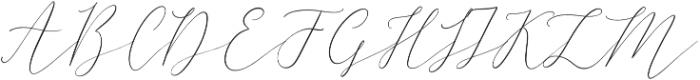 Friday Feeling otf (400) Font UPPERCASE