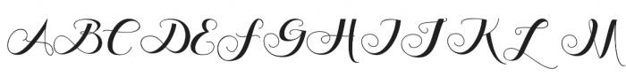Friends da vinci Regular otf (400) Font UPPERCASE
