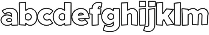 Fright Night Outline otf (400) Font LOWERCASE