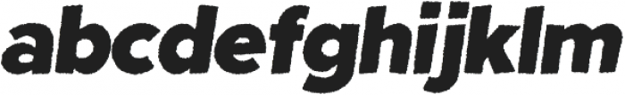 Fright Night Rough Oblique otf (400) Font LOWERCASE