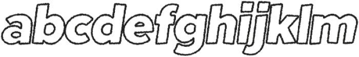 Fright Night Rough Outline Oblique otf (400) Font LOWERCASE