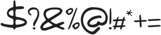 Fringe  regular otf (400) Font OTHER CHARS