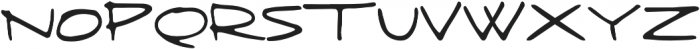 Fringe  regular otf (400) Font UPPERCASE