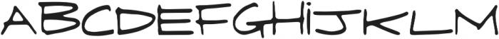 Fringe  regular otf (400) Font LOWERCASE