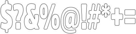 Fritz Outline otf (400) Font OTHER CHARS