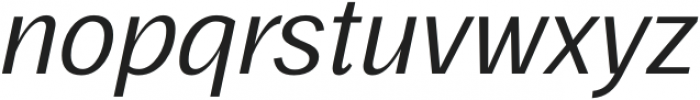 Frock Italic otf (400) Font LOWERCASE