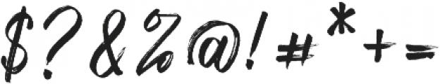 Fronds Getturing Regular otf (400) Font OTHER CHARS