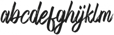 Fronds Getturing Regular otf (400) Font LOWERCASE