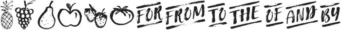 Fruit Salad Extras otf (400) Font LOWERCASE