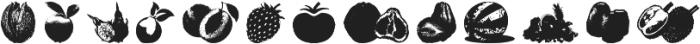 Fruitees otf (400) Font LOWERCASE