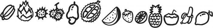 Fruitz Doodles otf (400) Font UPPERCASE