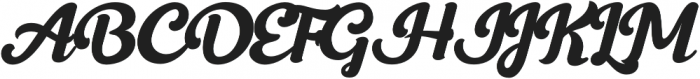 Frunch Swash otf (400) Font UPPERCASE