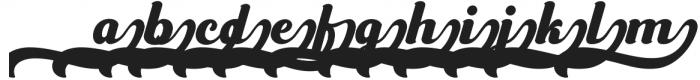 Frunch Swash otf (400) Font LOWERCASE