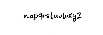 Fresh Kiwi.ttf Font LOWERCASE