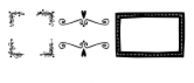 Frames and Borders Font UPPERCASE