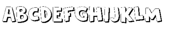 Frozen Memory Shadow Font UPPERCASE
