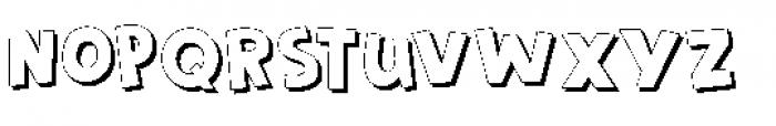 Frozen Memory Shadow Font LOWERCASE