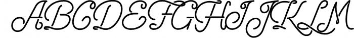 Freeday Script & Sans Font 4 Font UPPERCASE