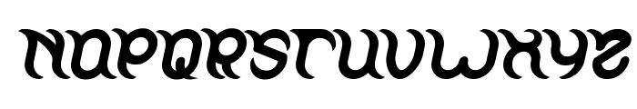 FRANKENSTEIN MONSTER Bold Italic Font UPPERCASE