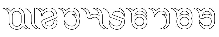 FRANKENSTEIN MONSTER-Hollow Font OTHER CHARS