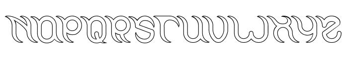 FRANKENSTEIN MONSTER-Hollow Font UPPERCASE