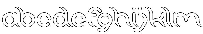 FRANKENSTEIN MONSTER-Hollow Font LOWERCASE