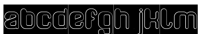 FRIENDLY ROBOT-Hollow-Inverse Font LOWERCASE