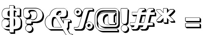 FRIENDO 3D Font OTHER CHARS