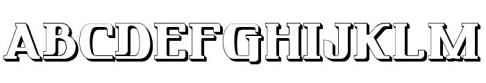FRIENDO 3D Font UPPERCASE