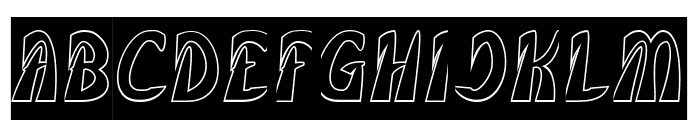 FROZEN ICE-Hollow Font UPPERCASE