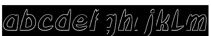 FROZEN ICE-Hollow Font LOWERCASE
