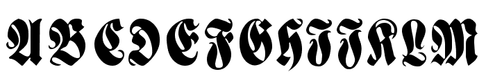 Fractur Font UPPERCASE