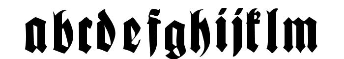 Fractur Font LOWERCASE