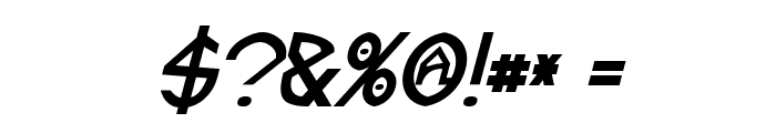 Fractyl Bold Italic Font OTHER CHARS
