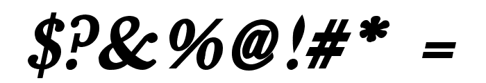 Fradley Bold Italic Font OTHER CHARS