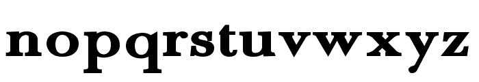 Fradley Extended Font LOWERCASE