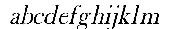 Fradley Italic Font LOWERCASE