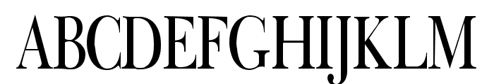 Fradley Narrow Font UPPERCASE