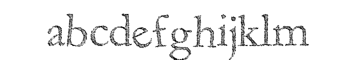 Fragile Decay Font LOWERCASE