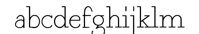 Fragment Core Roman Font LOWERCASE