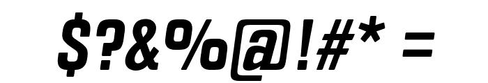 Fragua Bold Italic Font OTHER CHARS